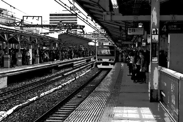 電車での人身事故の瞬間