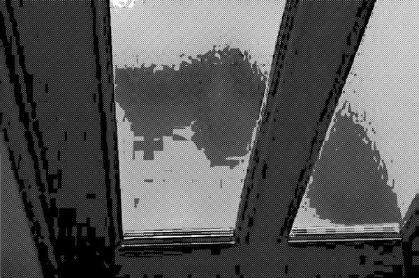 磨りガラスドア
