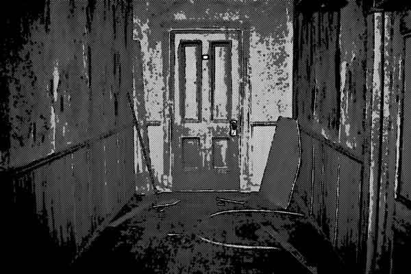 研修センターの閉ざされたドア