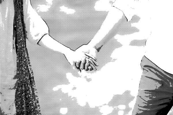 恋人 手を繋ぐ