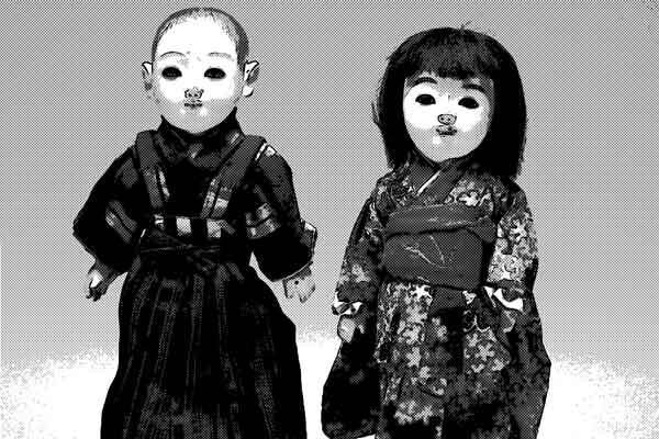 夜になったらこっちを見ている人形