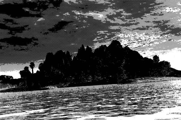 海賊が財宝を隠したという伝説が残る島